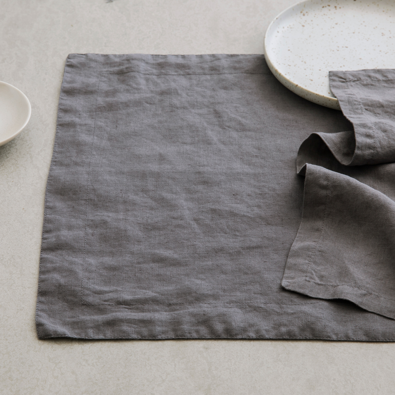 Linen Placemats Charcoal Grey Set Of 4