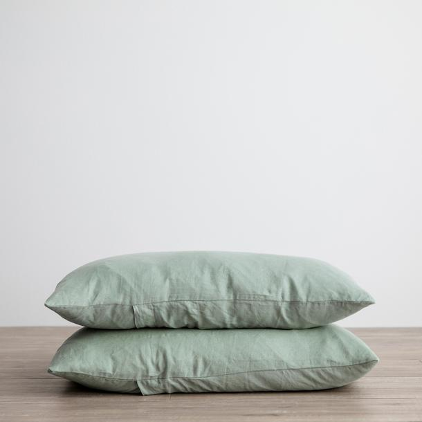 Linen Pillowcases Set of Two - Sage