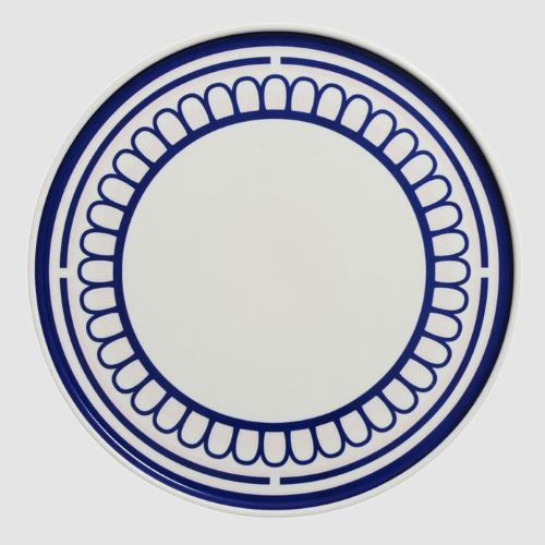 The Blue and Pink Scallop Plate 25cm