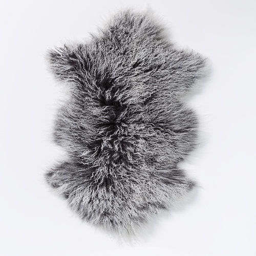 Lina Lambswool Hide in Charcoal Snow Top