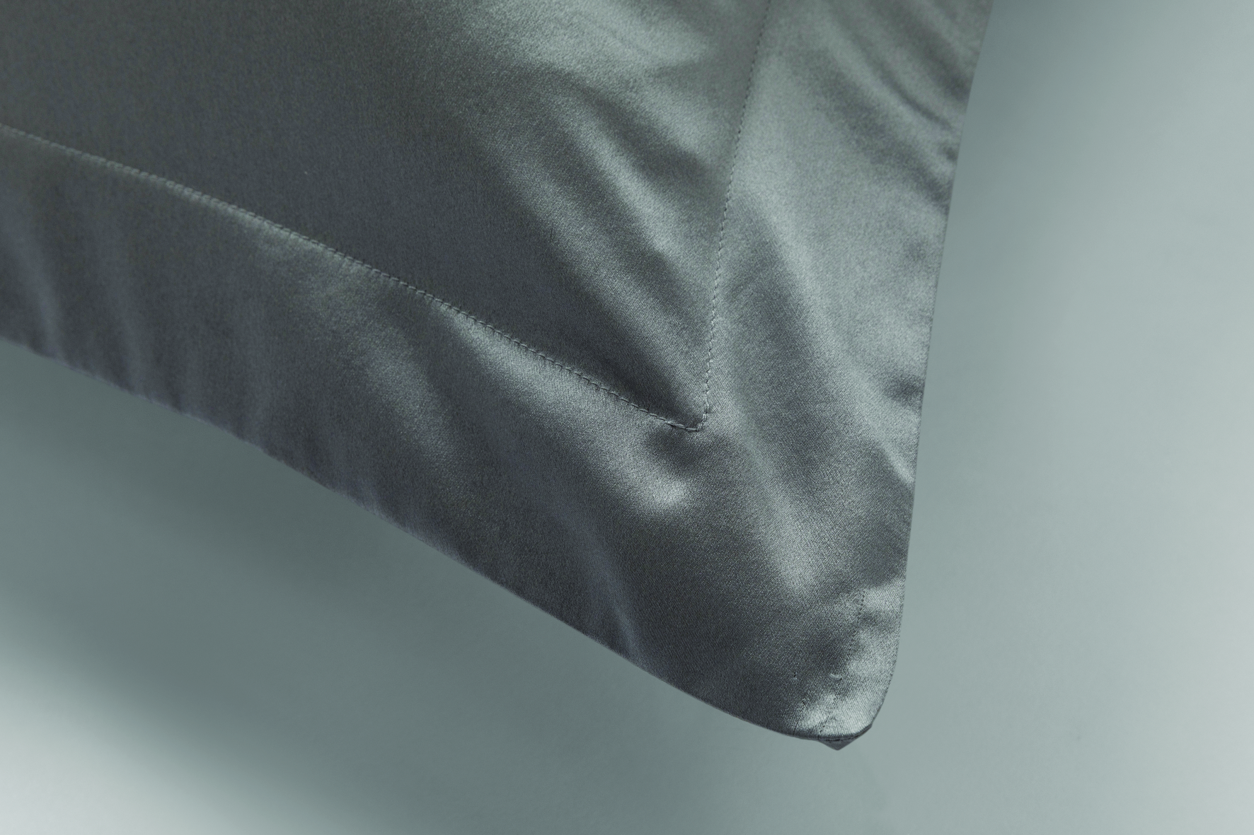 Lanham Tailored Silk Pillow Case Flint