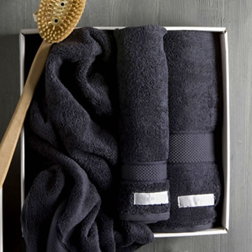 Luxury Egyptian Towel Set in Graphite