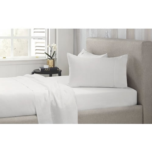 Abbotson Queen Fitted Sheet  40cm in White