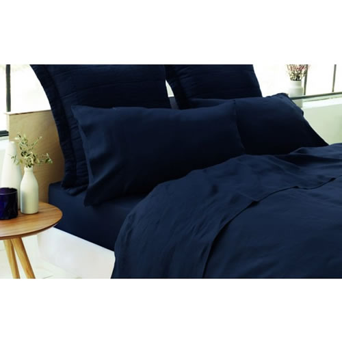 Abbotson Queen Fitted Sheet in Midnight