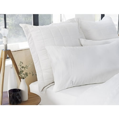 Abbotson Tailored Pillowcase Pair in White