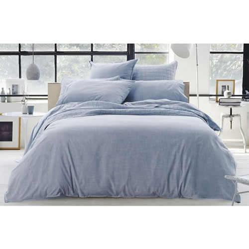 Reilly Chambray Queen Standard Quilt Cover Set