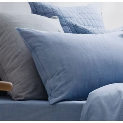 Reilly Chambray Standard European Pillowcase Single
