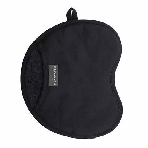 Savannah Black Silicon Oven Mitt