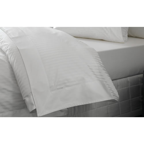 Millennia Queen Flat Sheet in Snow