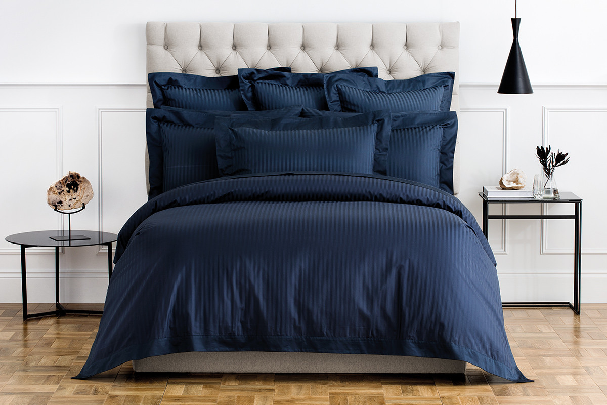 Millennia Queen Tailored Quilt Cover in Midnight