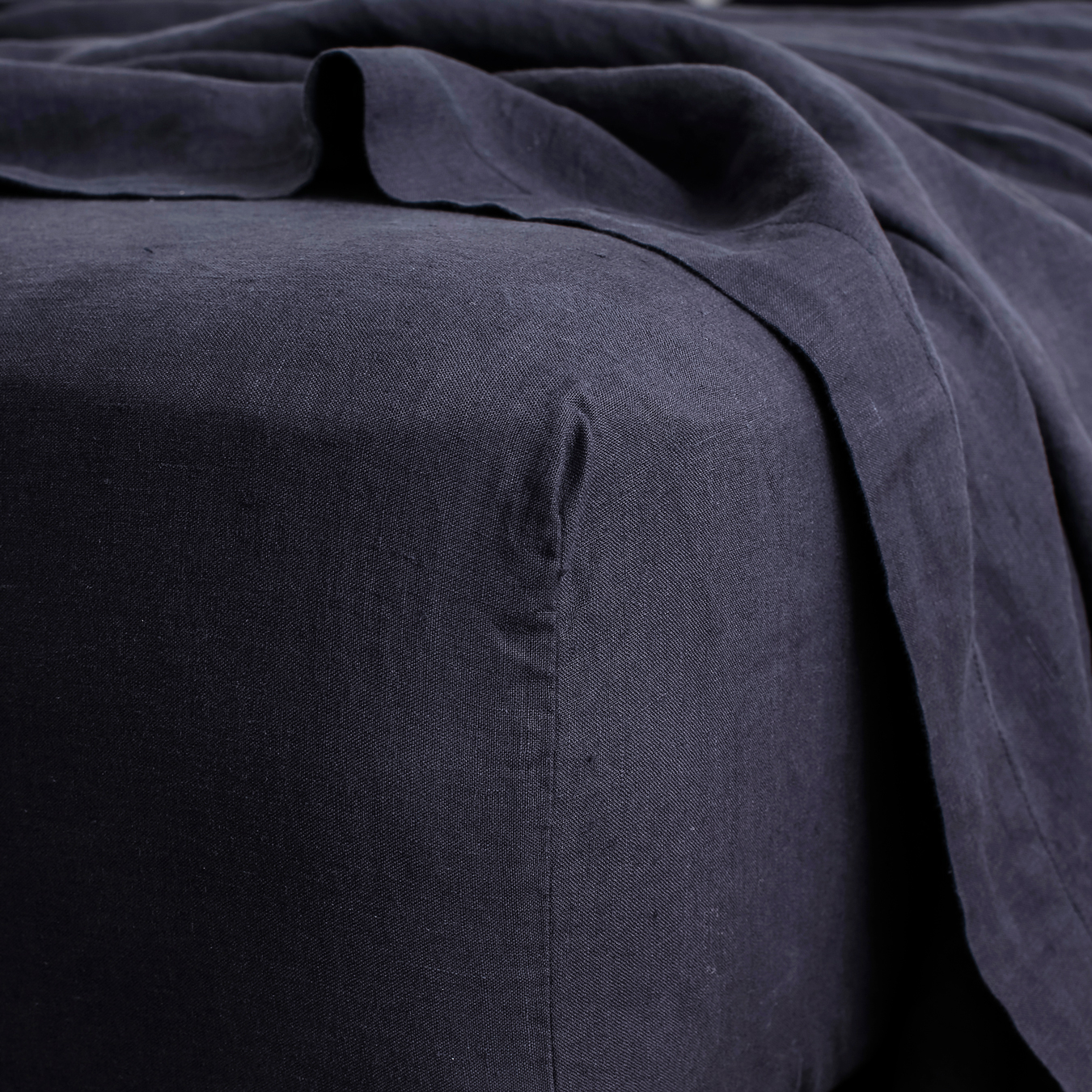 King Linen Fitted Sheet Navy