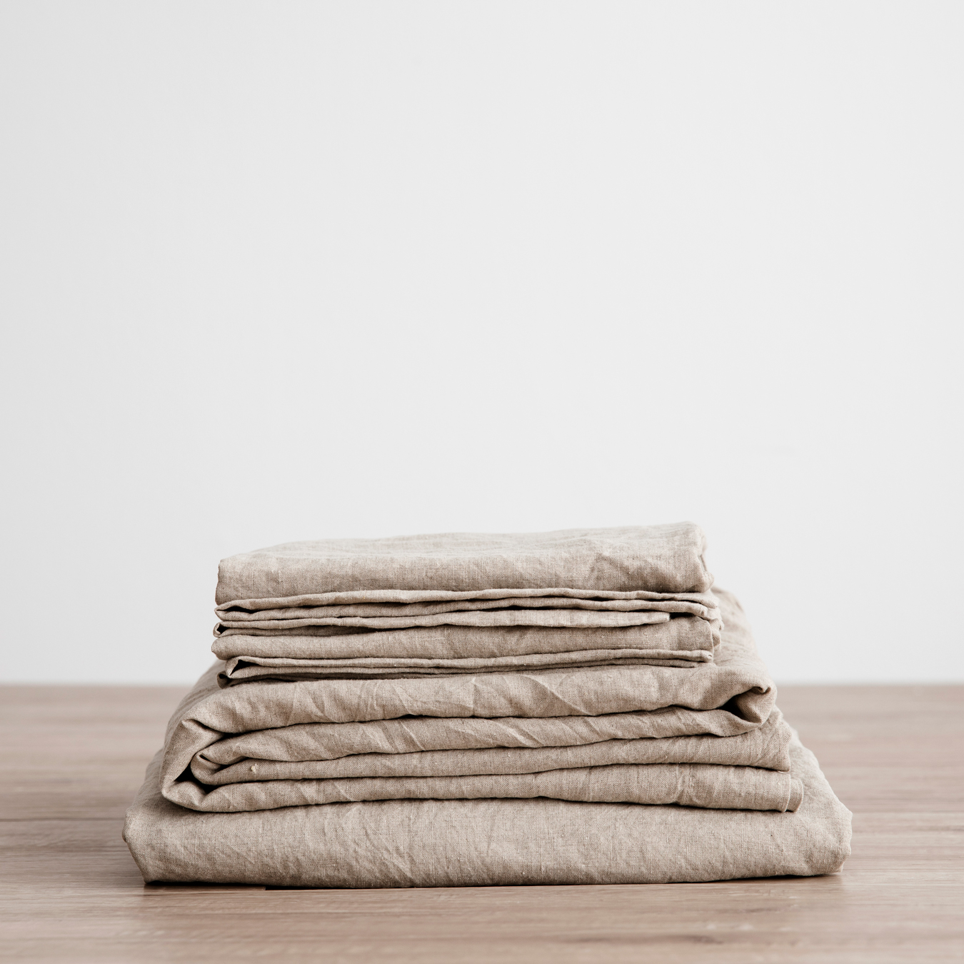 King Linen Sheet Set with Pillowcases Natural