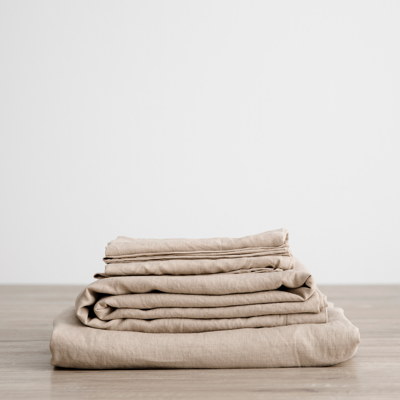 King Linen Sheet Set with Pillowcases Nude