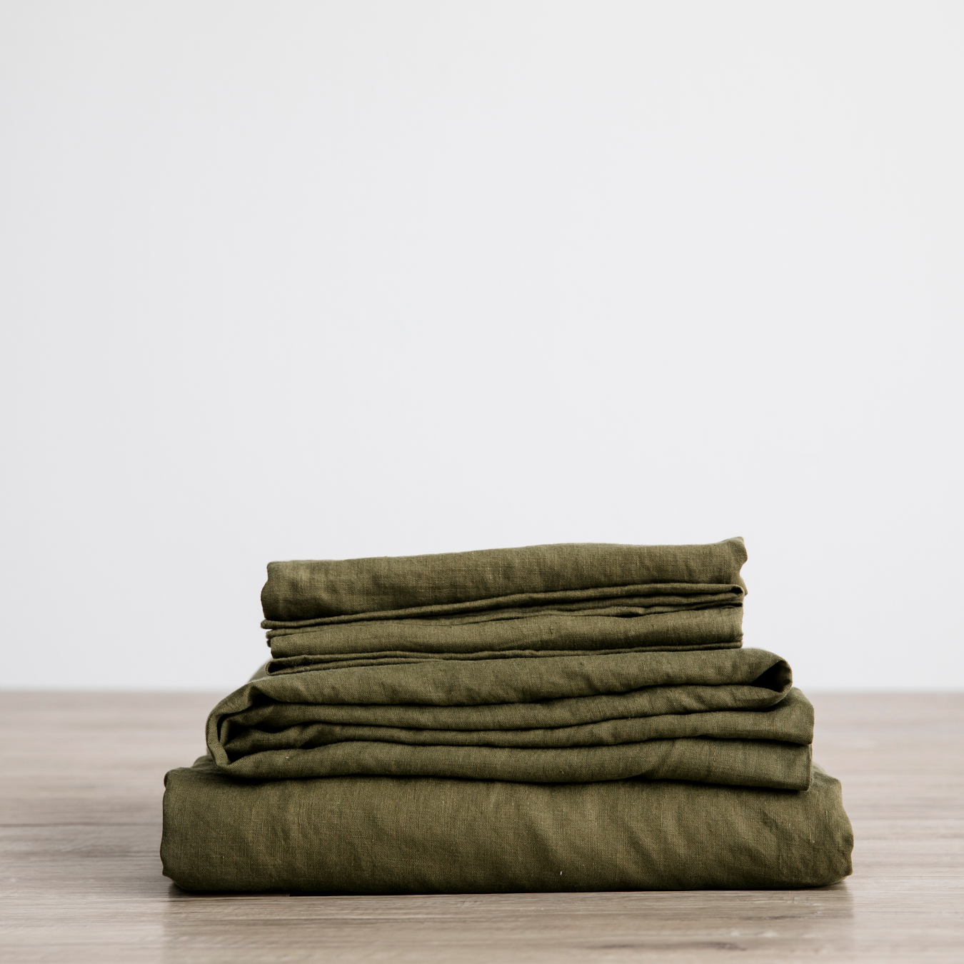King Linen Sheet Set with Pillowcases Olive