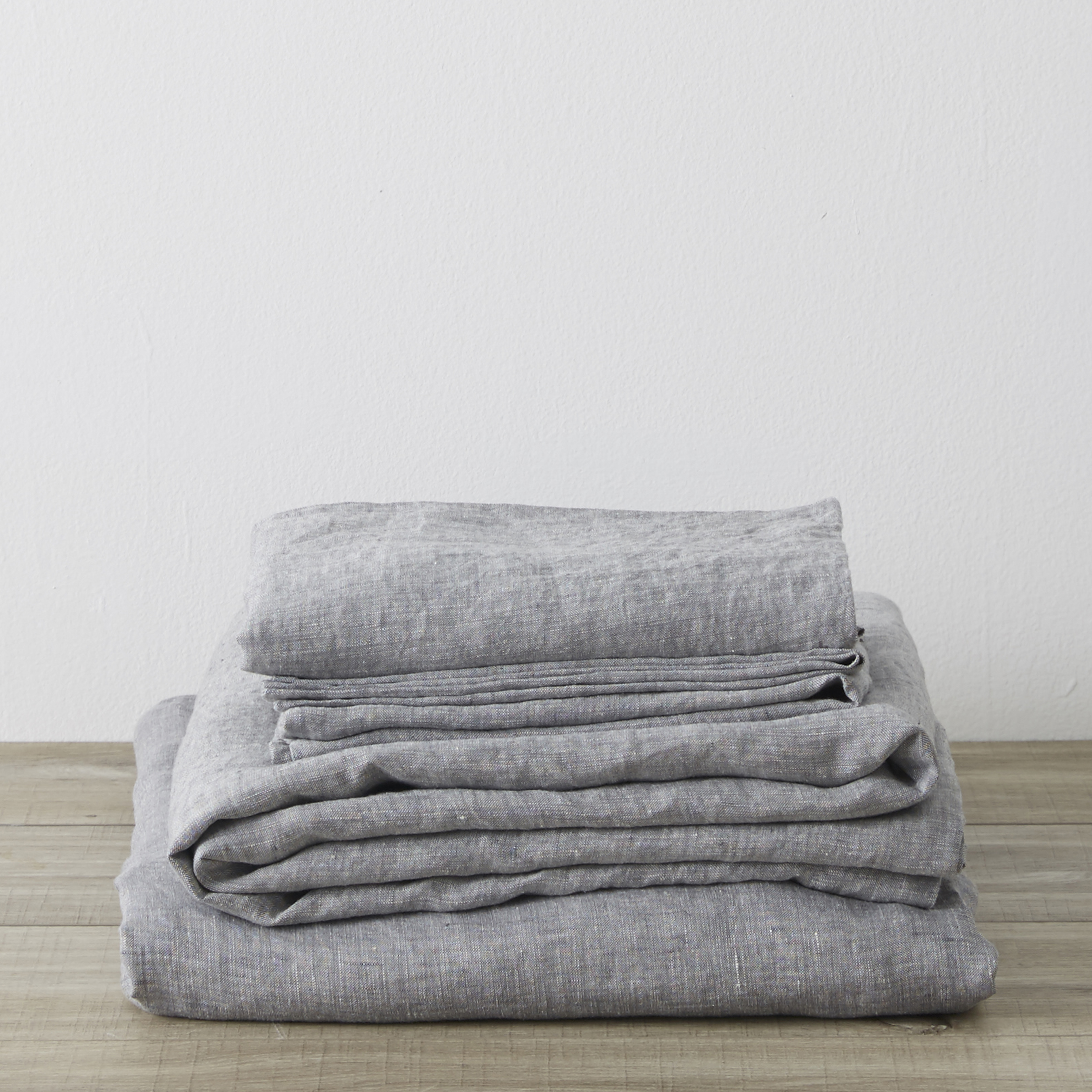 King Linen Sheet Set with Pillowcases Ash