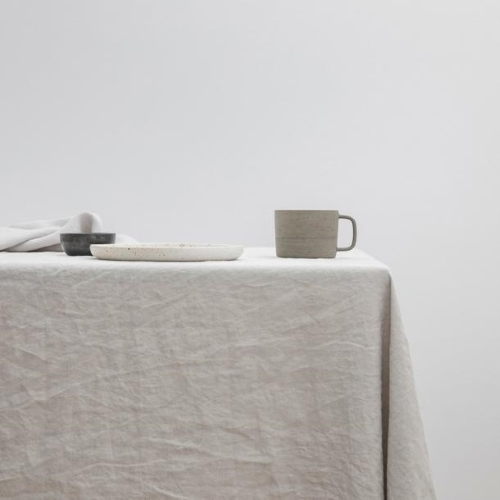 Square Linen Tablecloth Grey