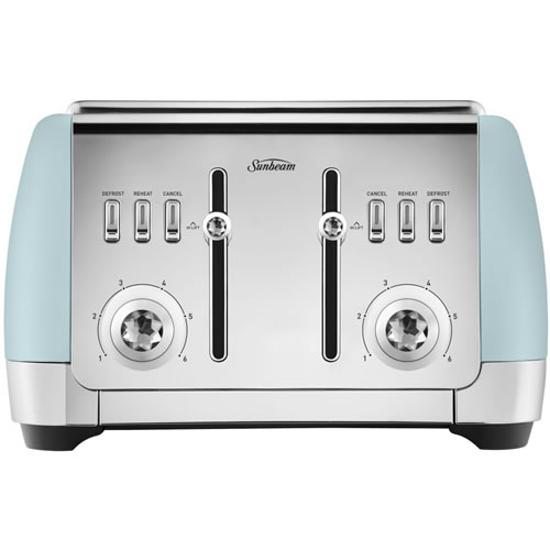Sunbeam London Collection 4 Slice Toaster Light Blue