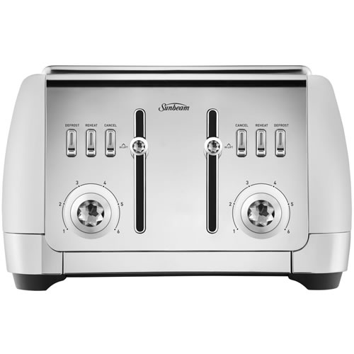 Sunbeam London Collection 4 Slice Toaster White