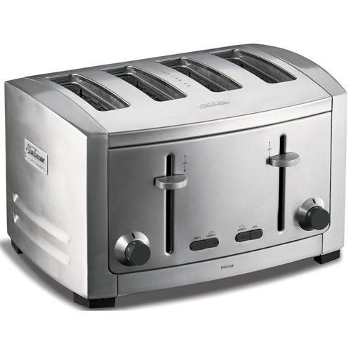 Cafe Series 4 Slice Stainless Steel Toaster