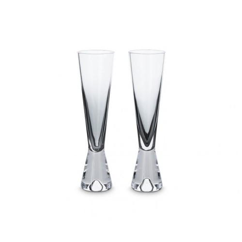 Tank Champagne Glasses Pair Black