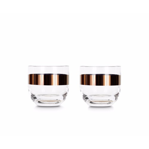 Tank Whiskey Glasses Copper Pair