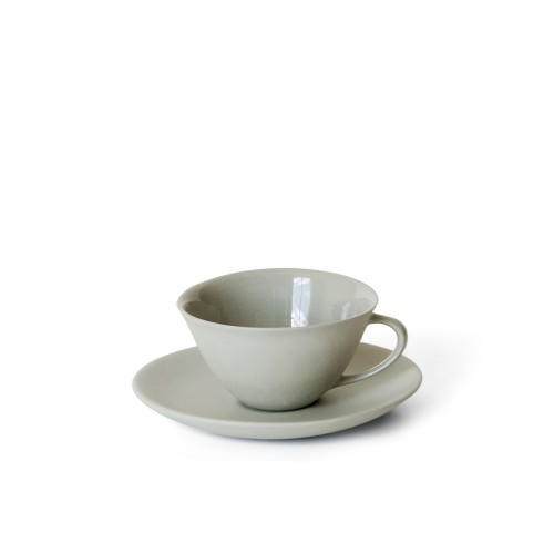 Tea Cup and Saucer in Ash