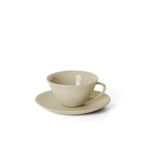 Tea Cup and Saucer in Sand