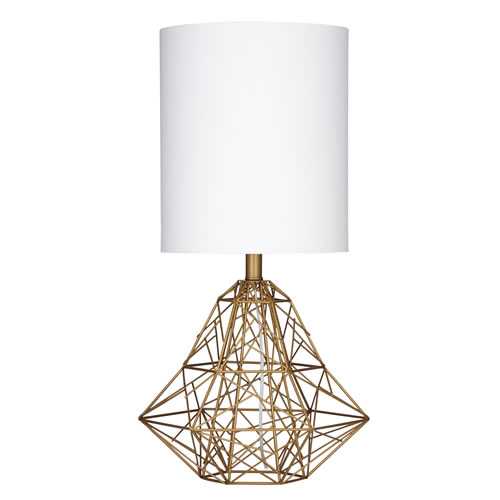 Madelia Table Lamp in White and Gold