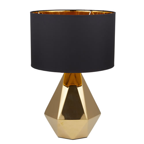 Cleo Table Lamp in Gold and Black