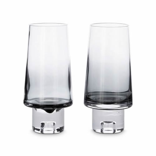 Tom Dixon Tank High Ball Glass Pair Black