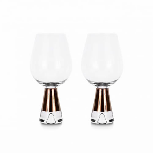 Tank Wine Glasses Copper Pair