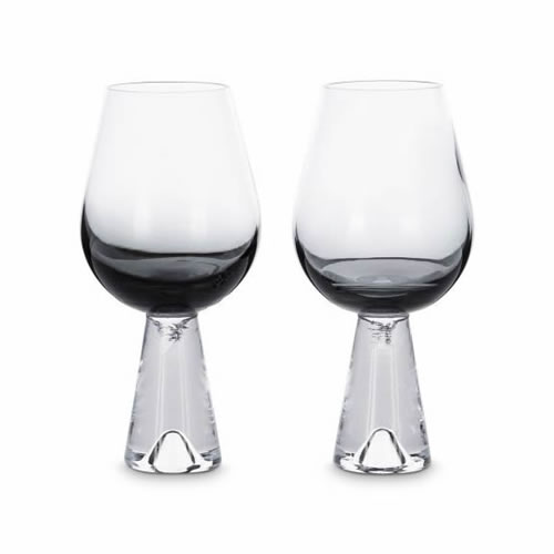 Tank Wine Glasses Black Pair