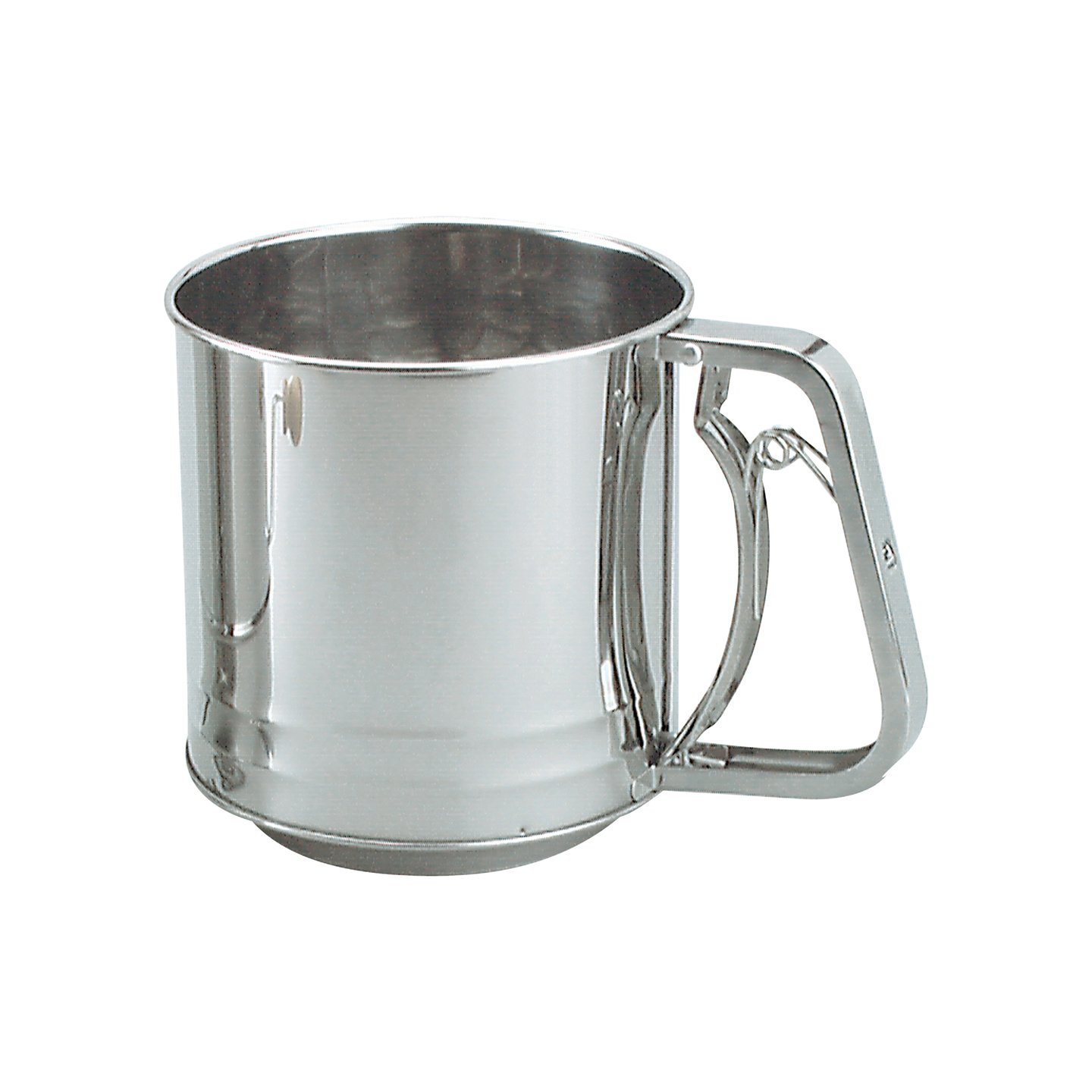 Flour Sifter Stainless Steel 5 Cup Squeeze Handle