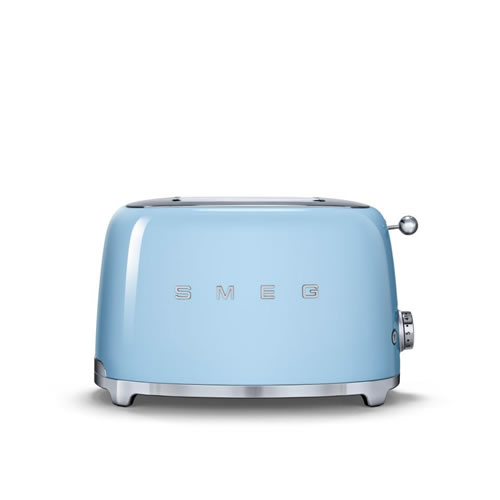 50's Style 2 Slice Toaster Pale Blue