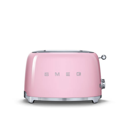 50's Style 2 Slice Toaster Pink