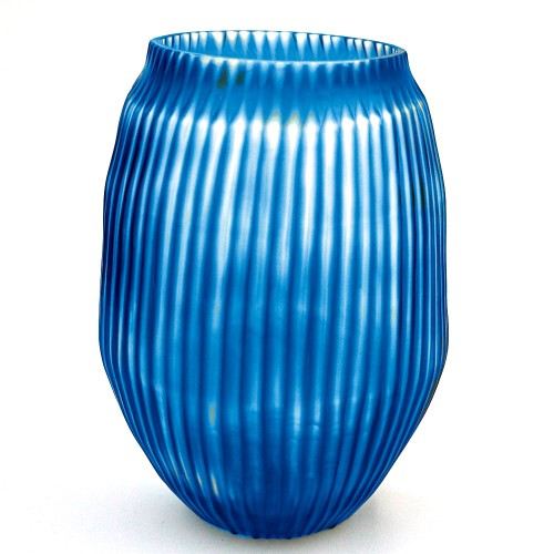 Brian Tunks Cut Glass Medium Vase in Aegan