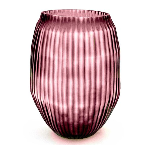 Brian Tunks Cut Glass Medium Vase in Blush