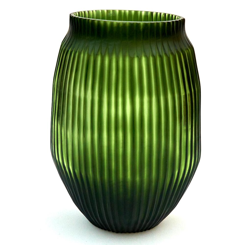 Brian Tunks Cut Glass Medium Vase in Leaf