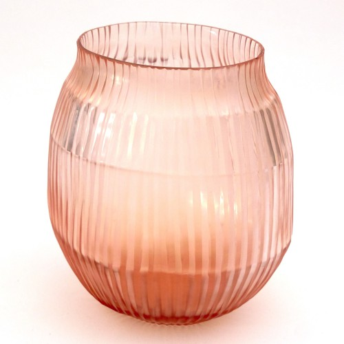 Brian Tunks Cut Glass Small Vase in Peach