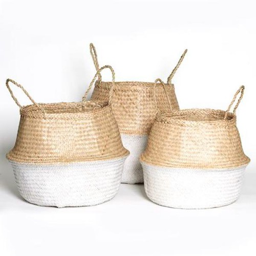 Collapsible Basket Natural & White