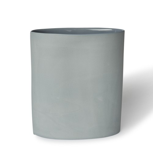 Vase Oval Large in Steel