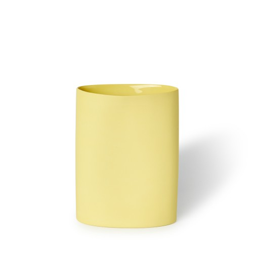 Vase Oval Medium in Yellow