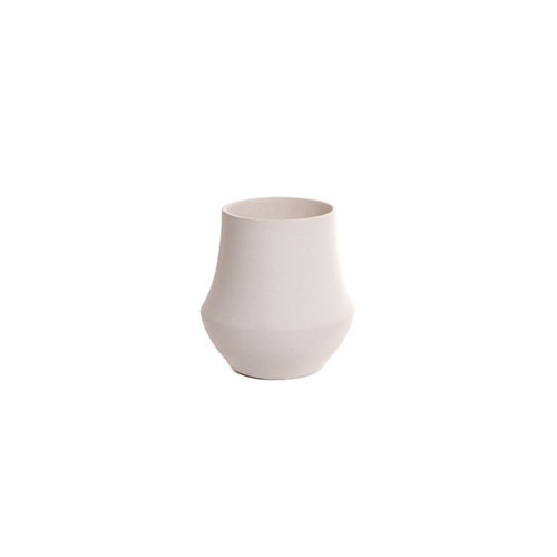 Palamino Small Stone Vase in White