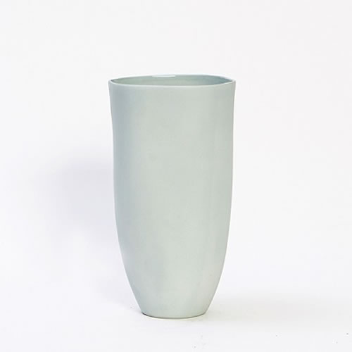 Flax Tall Vase 27cm Duck Egg