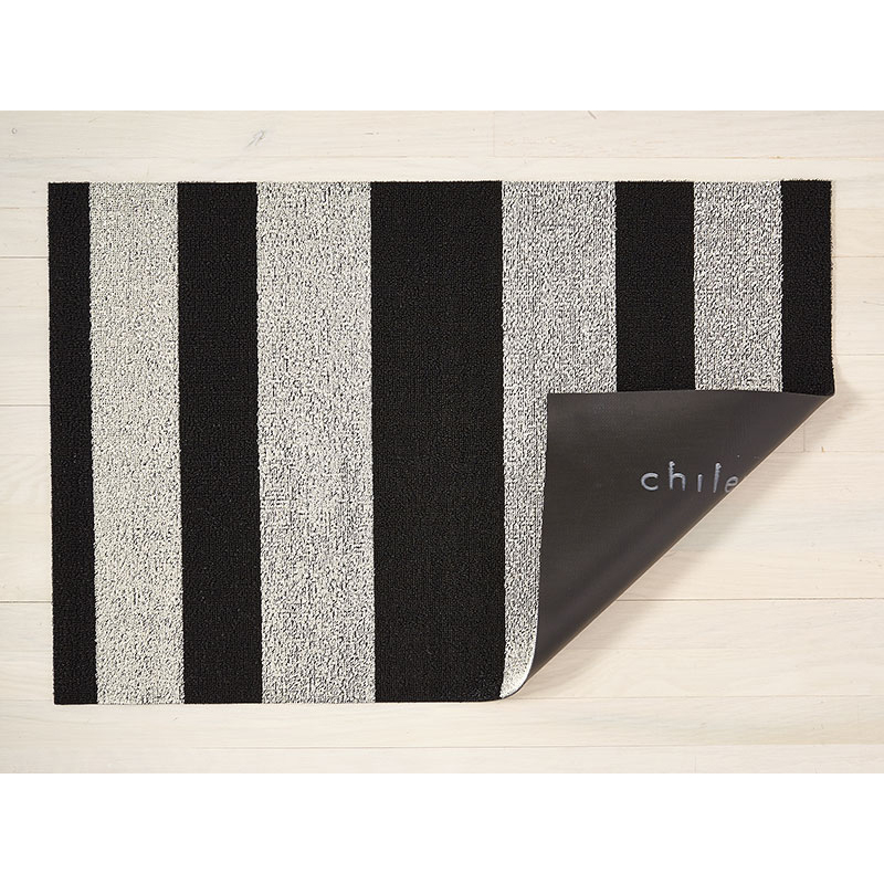 Chilewich - Doormat B/Stripe, Black/White, 46x71