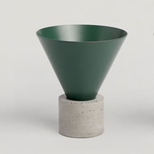 Void Incense Burner in Forest Green