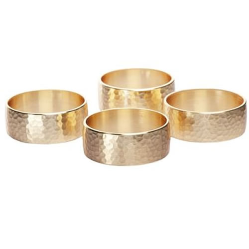 Whitehill Stuart Collection Gold Finish Napkin Rings