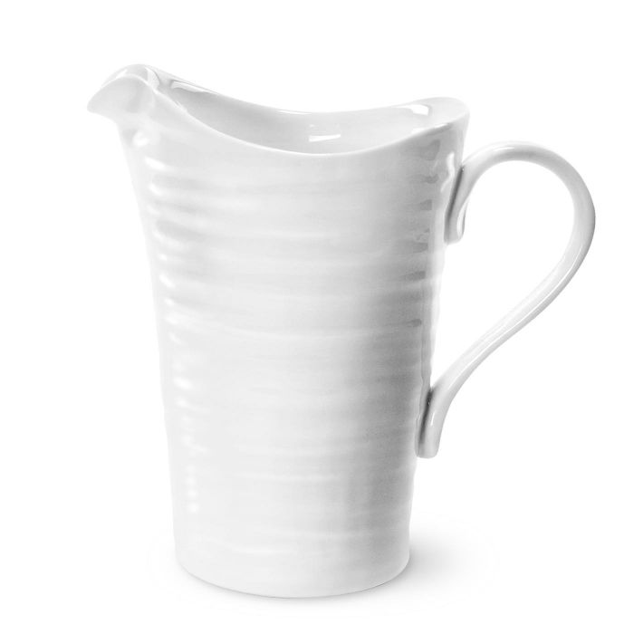 White Medium Pitcher