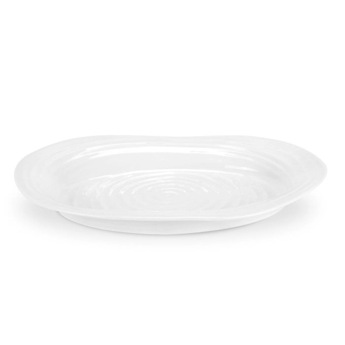 White Oval Plate 37cm x 30cm