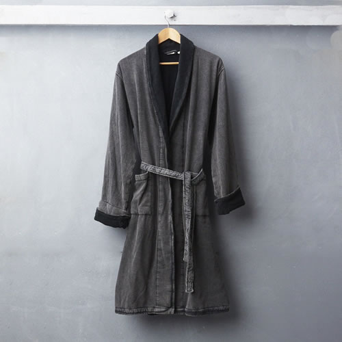 Wash Bathrobe Charcoal Small to Medium